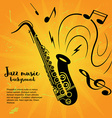 Saxophone music poster vector image