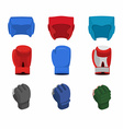 boxing gloves helmet gloves for the mix fight vector image