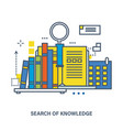 concept of knowledge and online education vector image