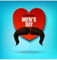 International Men s Day Men s mustache Heart vector image