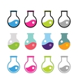 Laboratory equipment icons set vector image