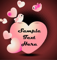 love birds valentine greeting card vector image