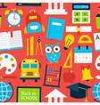 Red Tile Pattern Back to School vector image