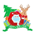 Santa Claus with Label for your design vector image