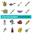 set of kitchenware and Cooking tools vector image