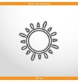 sun web flat icon vector image