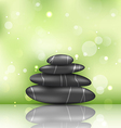 Zen spa background with pyramid stones vector image