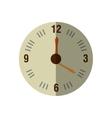 wall clock retro isolated icon vector image