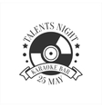Talents Night Karaoke Premium Quality Bar Club vector image