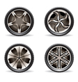 Aluminum rims set vector image