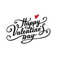 Happy Valentine s Day text vector image