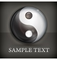 Yin yang symbol on black vector image