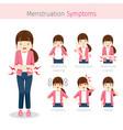 Girl with menstruation symptoms vector image
