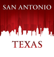 San Antonio Texas city skyline silhouette vector image