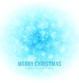 Christmas light with snowflakes background Eps 10 vector image vector image