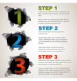 One two three - progress background with numbers vector image