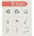 black music icons set vector image