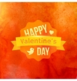 Watercolor Happy Valentines Day Typography vector image