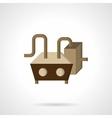 Industrial pump flat icon vector image