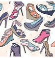 Cute seamless fashion pattern vector image vector image