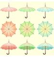 Set of vintage colored umbrellas vector image vector image