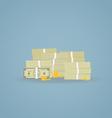 Cash pile vector image