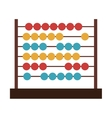 colorful abacus icon vector image