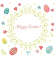 Easter floral wreath vector image