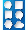 Empty speech bubbles paper vector image