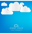 Paper cloud vector image