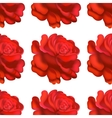 Seamless red roses pattern vector image