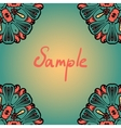 Seanless mandala banner with a lot of copyspace vector image
