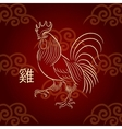 The symbol of the Chinese New Year Fiery Rooster vector image