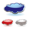 Glass fluffy clouds vector image