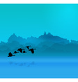 Morning background vector image