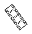 tape record cinema isolated icon vector image