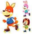 Animals on roller skate vector image vector image