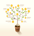 Infographic business money plant and coins flat vector image