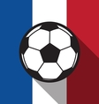 football icon with France flag vector image