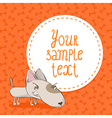 Card background with bull terrier vector image