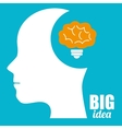 Big ideas from young minds vector image