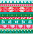 embroidered border patterns vector image