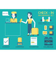 Check in Info graphic vector image