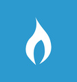 fire icon white on the blue background vector image