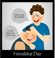 Friendship Day Two best friends vector image