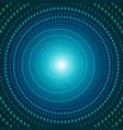 futuristic virtual digital tunnel vector image