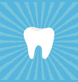healthy tooth icon oral dental hygiene children vector image