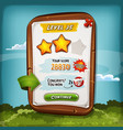 level score board with bonus for game ui vector image