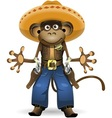 monkey sheriff vector image
