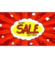 Pop art comic sale discount promotion banner vector image
